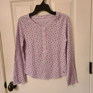 Justice Floral Long Sleeve Henley